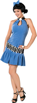 Ladies The Flintstones Betty Costume Fancy Dress
