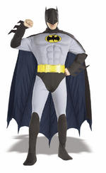 Mens The Batman Muscle Chest Costume Fancy Dress