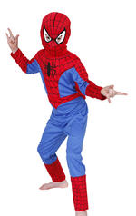 Spiderman Classic Costume Boys Fancy Dress Kids Child Licensed