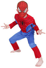 Spiderman Muscle Chest Costume Boys Fancy Dress Kids Child Licensed