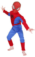 Spiderman Padded Muscle Chest Costume Boys Fancy Dress Kids Child Licensed