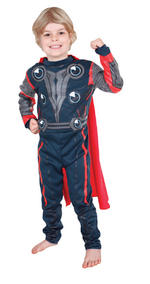 Thor Costume Boys Fancy Dress Kids Child Avengers Marvel Licensed