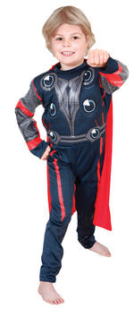 Thor Padded Muscle Chest Costume Boys Fancy Dress Kids Child Avengers Licensed