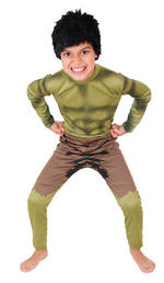 Hulk Costume Boys Fancy Dress Kids Child Avengers Marvel Licensed