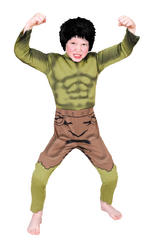 Hulk Padded Muscle Chest Costume Boys Fancy Dress Kids Child Avengers Licensed