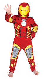 Iron Man Costume Boys Fancy Dress Kids Child Avengers Marvel Licensed