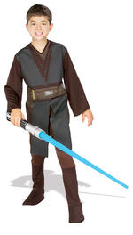 Anakin Skywalker Costume Boys Fancy Dress Kids Child Star Wars Licensed