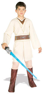 Obi Wan Kenobi Costume Boys Fancy Dress Kids Child Star Wars Licensed