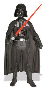 Darth Vader Deluxe Costume Boys Fancy Dress Kids Child Star Wars Licensed