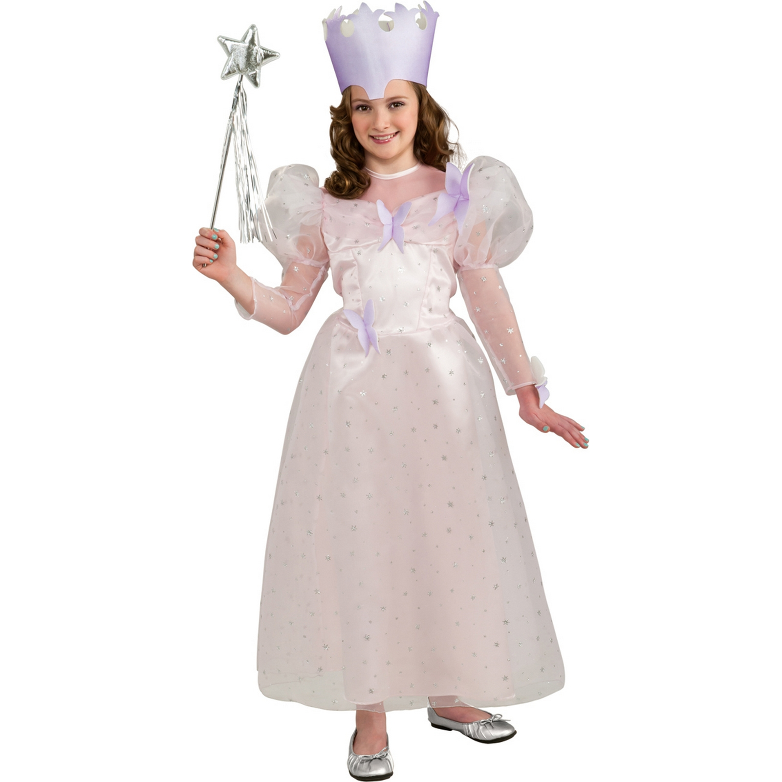 Glinda the Good Witch Costume Girls Fancy Dress Child The Wizard of Oz