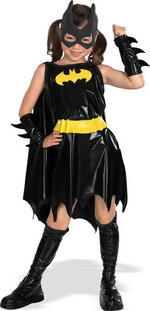 Batgirl Costume Girls Fancy Dress Kids Child Batman Licensed