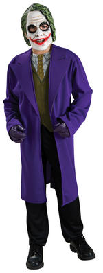 The Joker Costume Boys Fancy Dress Kids Child Batman Licensed Comic Book Movie