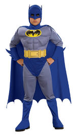 Batman Brave And The Bold Muscle Chest Costume Boys Fancy Dress Kids Child