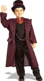 Willy Wonka Costume Boys Fancy Dress Charlie and the Chocolate Factory Book