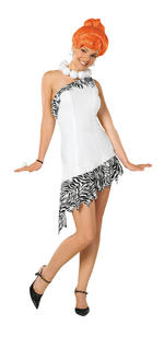 Ladies Wilma Flintstone Costume Fancy Dress