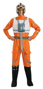 Mens Star Wars X-Wing Fighter Pilot Costume Fancy Dress