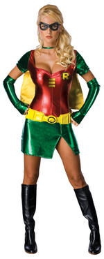Ladies Batman Robin Costume Fancy Dress