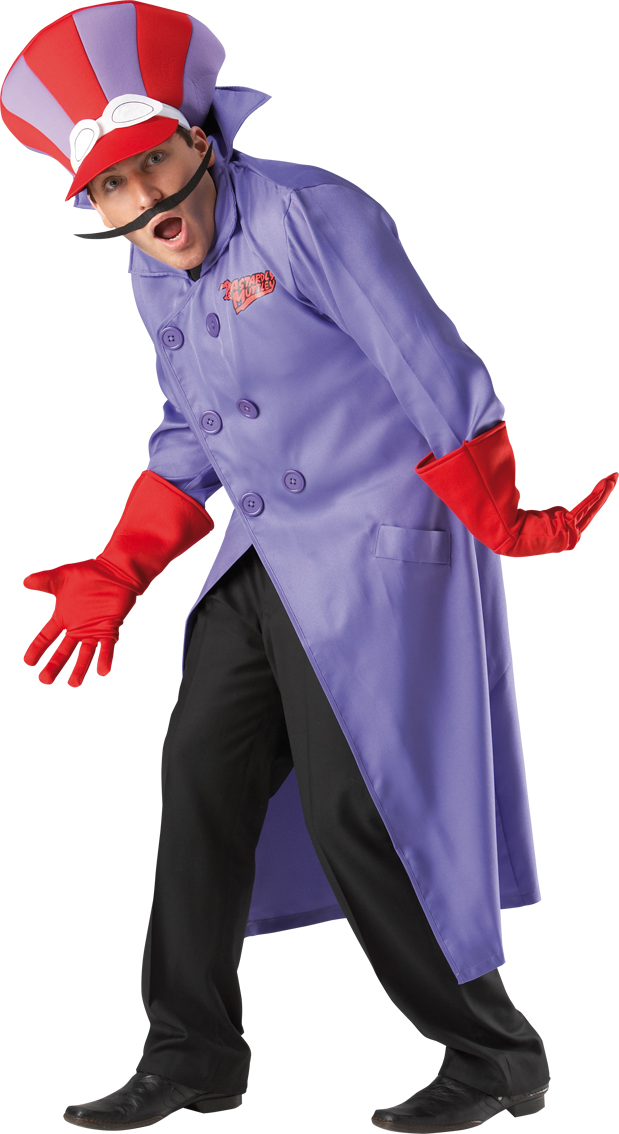 Dick Dastardly Costume Wacky Races Cartoon Mens Male Fancy Dress Party Adult
