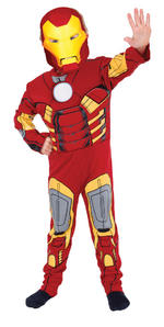 Iron Man Muscle Chest Costume Boys Fancy Dress Kids Child Avengers Licensed
