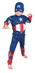 Captain America Padded Muscle Chest Costume Boys Fancy Dress Kids Child Avengers