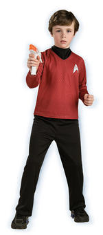 Kids Star Trek Scotty Deluxe Costume Red Shirt Large