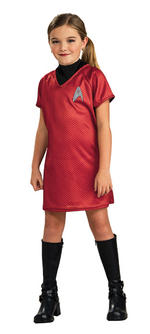 Kids Star Trek Uhura Costume Red Dress Small