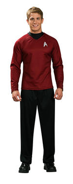 Mens Star Trek Scotty Red Shirt Large