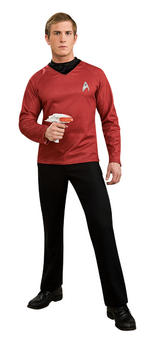 Mens Star Trek Scotty Deluxe Red Shirt Small