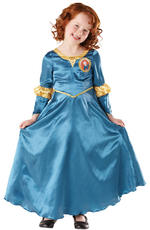 Merida Classic Costume Girls Fancy Dress Kids Child Disney Brave Princess Movie