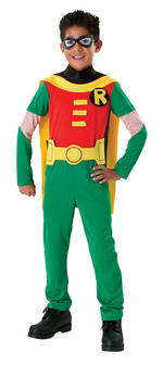 Robin Costume Boys Fancy Dress Kids Child Batman DC Comics Licensed