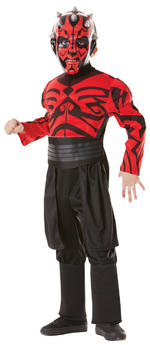 Darth Maul Costume Boys Fancy Dress Kids Child Star Wars Licensed