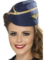 Air Hostess Hat Adult Smiffys Fancy Dress