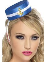 Pill Box Sailor Hat Adult Smiffys Fancy Dress