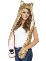 Leopard Hood Adult Smiffys Fancy Dress