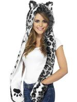 Snow Leopard Hood Adult Smiffys Fancy Dress
