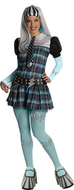 Frankie Stein Wig Adult Monster High Fancy Dress