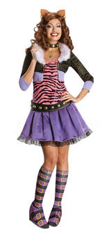 Clawdeen Wolf Wig Adult Monster High Fancy Dress