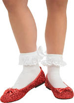 Dorothy Shoes Deluxe Adult Large The Wizard of Oz Fancy Dress US 9-10