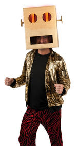 Shuffle Bot Headpiece Adult LMFAO Fancy Dress