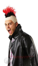 Red Mohawk Wig Adult Rubies Fancy Dress