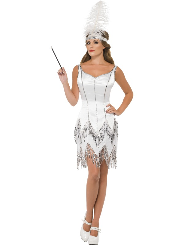 Fever Flapper Dazzle Costume Charleston Womens Ladies Fancy Dress Outfit Adult