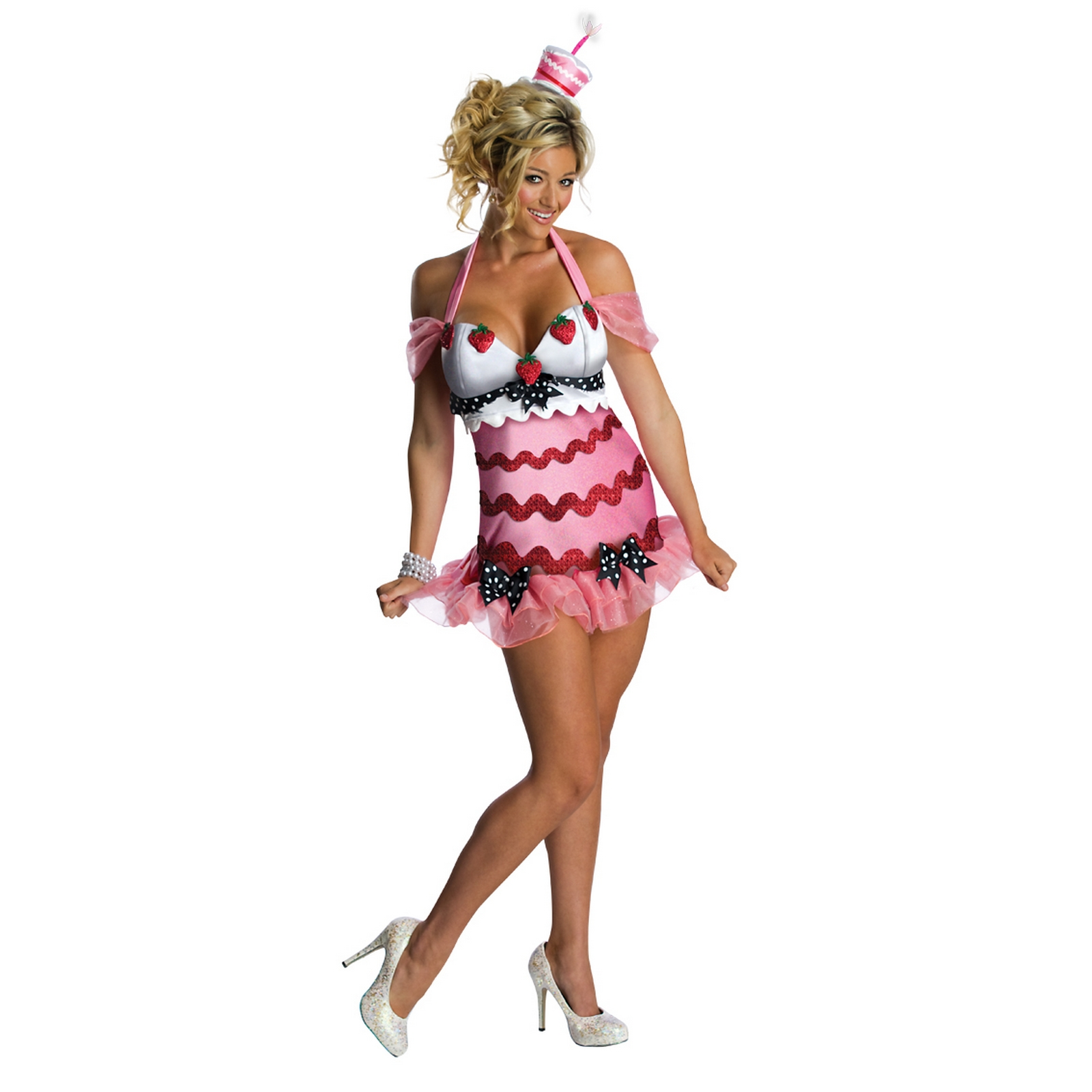 Birthday Cake Sexy Party Womens Ladies Fancy Dress Costume Outfit Rubies Adult