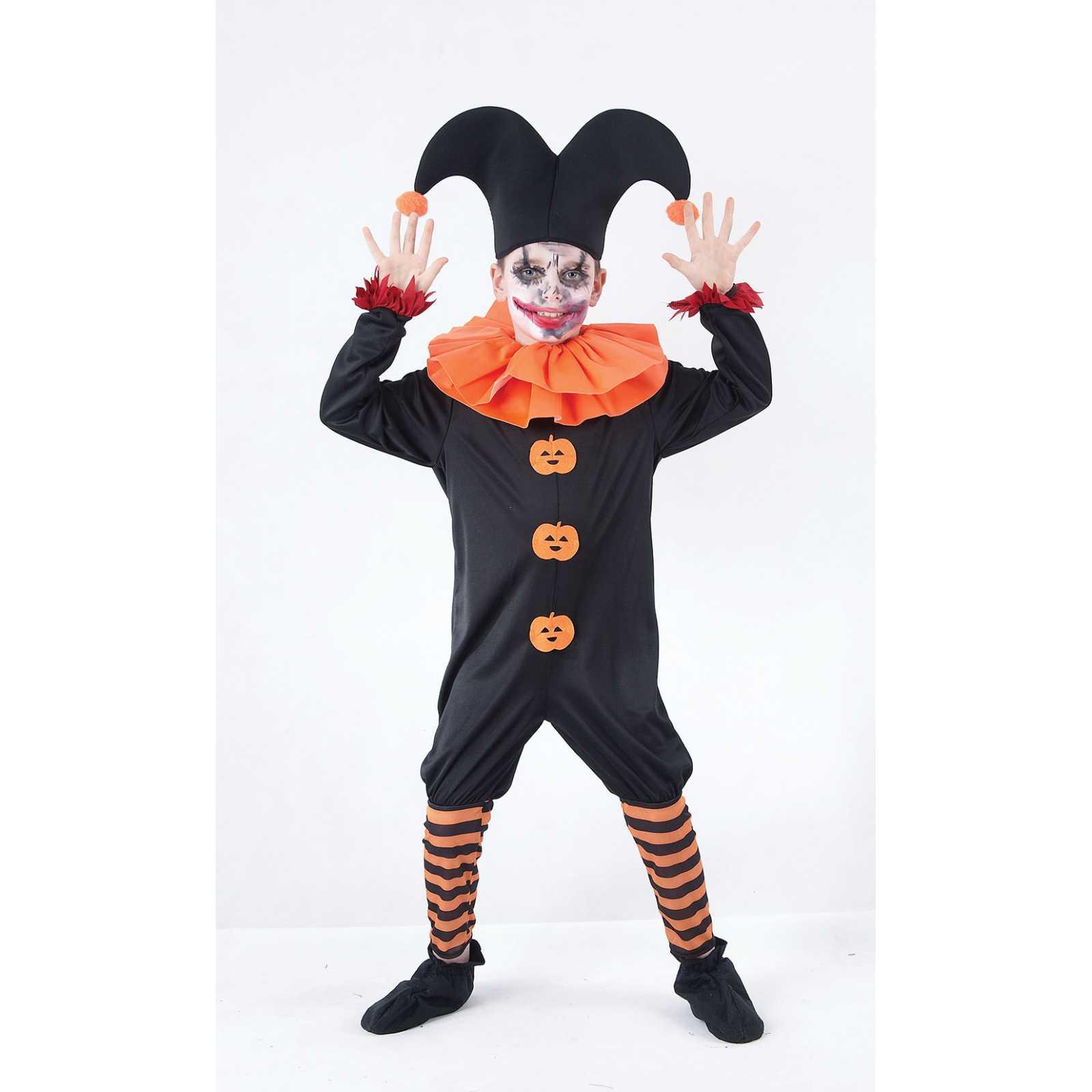 boeser narr kostuem fuer kinder harlekin schelm clown horror fasching halloween ebay. Black Bedroom Furniture Sets. Home Design Ideas
