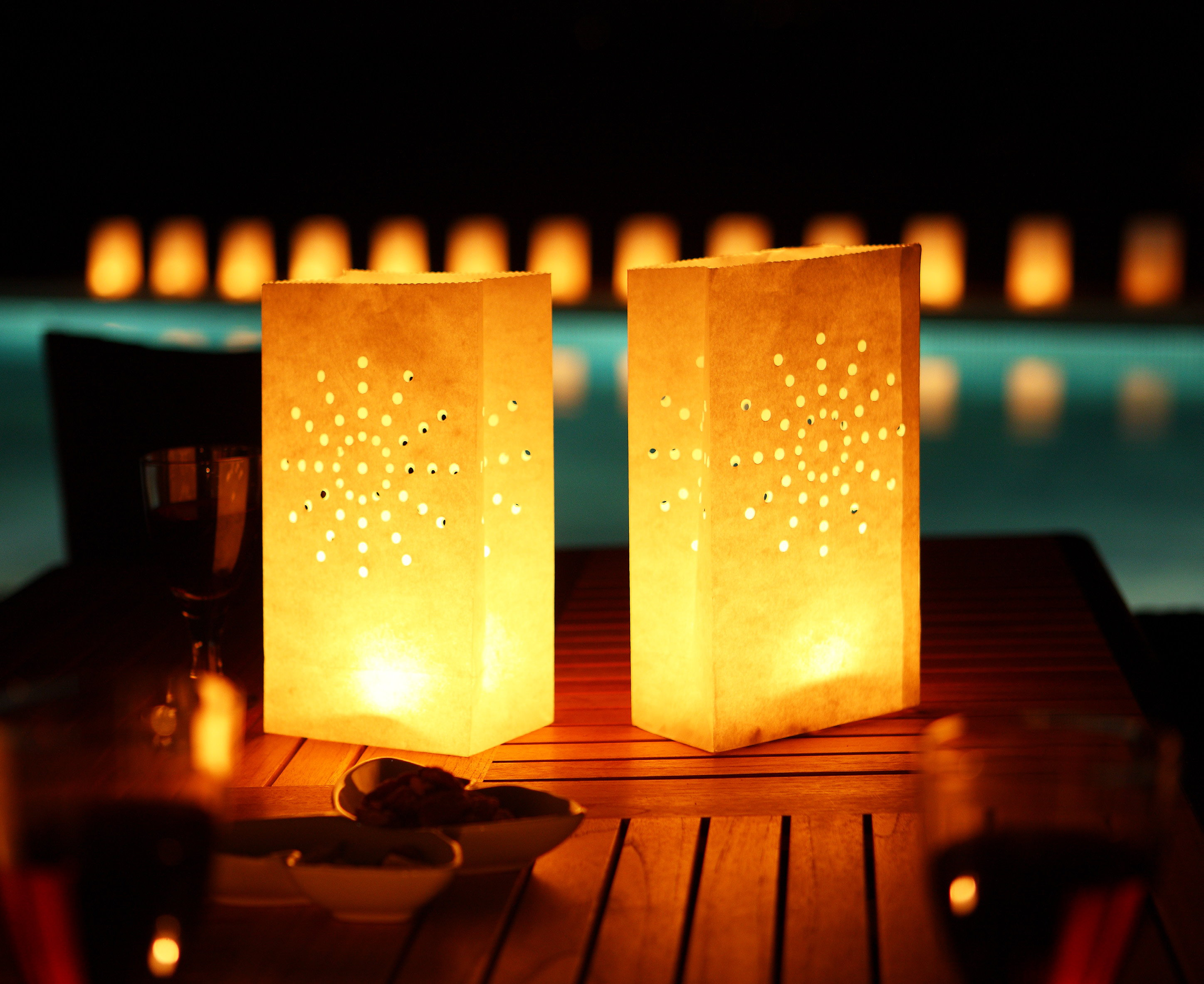 tea light paper candle lantern bags luminaries party ebay