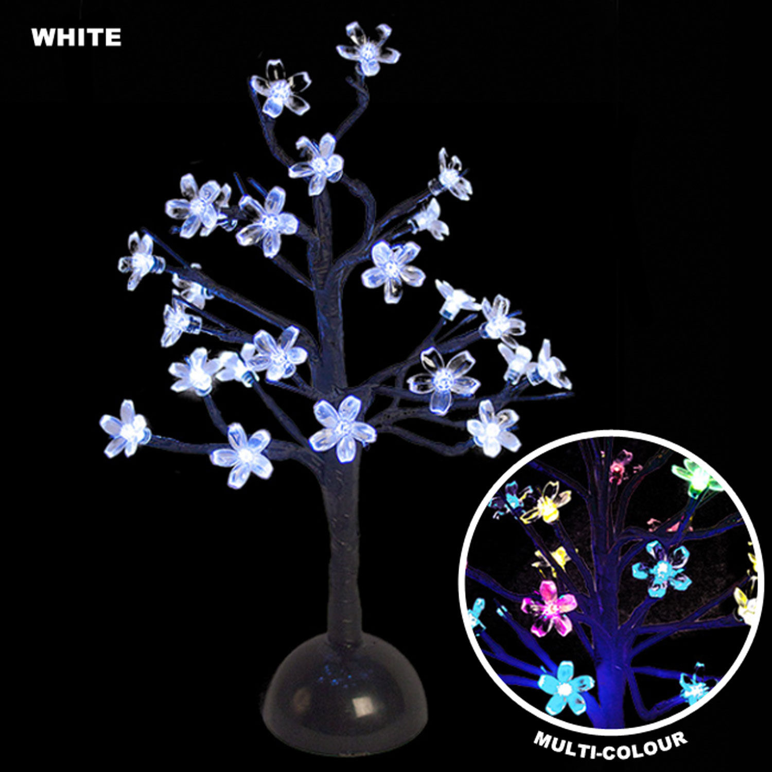 Indoor Light Show: 40cm 24 LED Blossom Trees Indoor Battery Operated