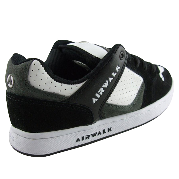 mens airwalk white black skate trainers shoes size 7 12 ebay