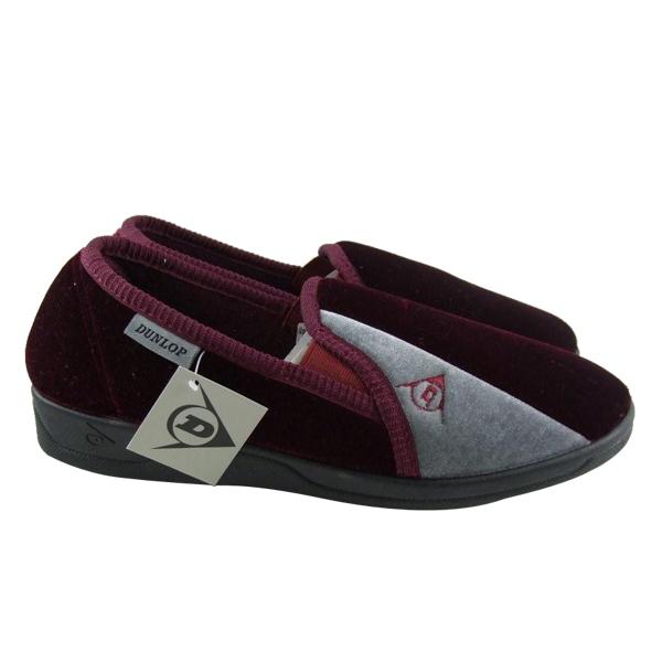 Mens-Dunlop-Velour-Luxury-Gusset-Slippers-Size-UK-7-11