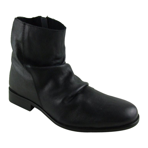 mens leather smart slouch ankle boots uk 6 7 8 9 10 11 ebay