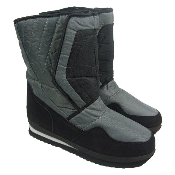 Boots Mens Waterproof Soles Winter Snow Moon Rain Apres Ski Velcro ...