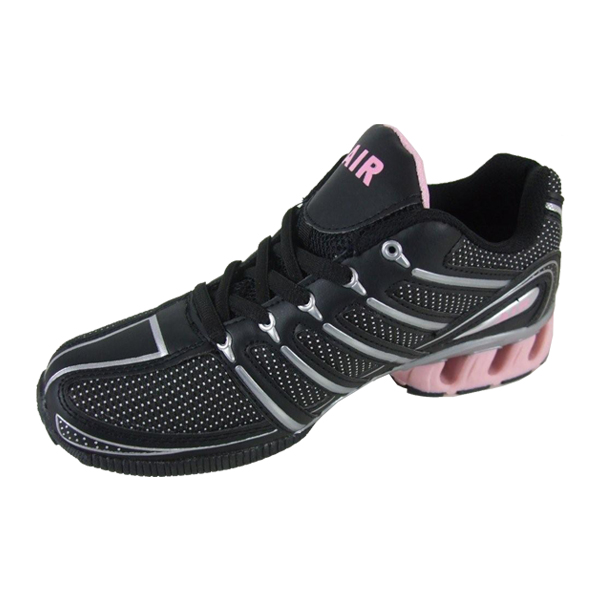 Womens-Shock-Absorbing-Running-Trainer-Black-Pink-Trainers-Ladies-Shoes-Size-3-8